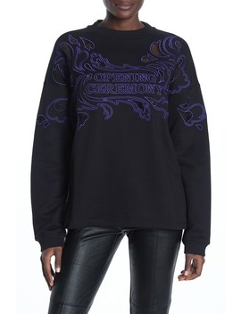 Embroidered Crew Neck Pullover by Opening Ceremony