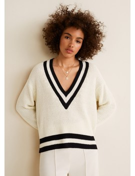 Contrast Panel Sweater by Mango