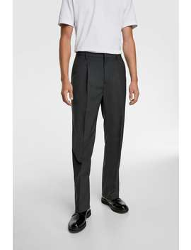 Pleated Pants Tailored Trousers Man by Zara