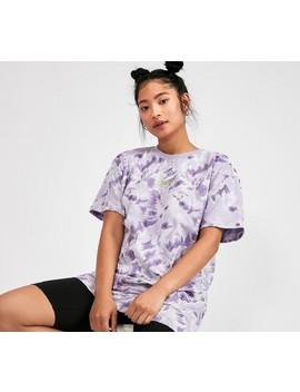 Womens Short Sleeve Tie Dye T Shirt | Purple by Daisy Street
