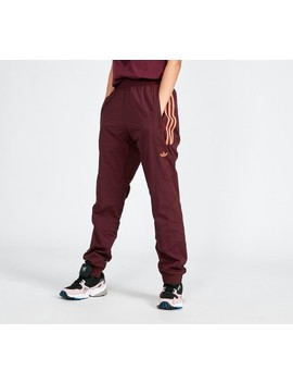 Womens Flamestrike Woven Track Pant | Burgundy / Orange by Adidas Originals