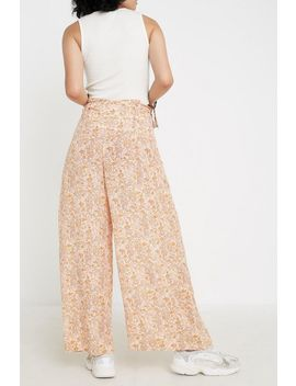Uo Orla Paisley Floral Belted Pant by Urban Outfitters