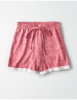 Ae Studio Tie Dye Fleece Short by American Eagle Outfitters
