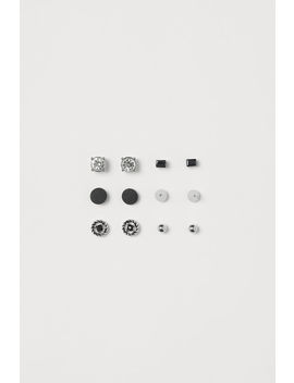 6 Pairs Stud Earrings by H&M