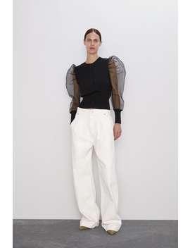 Organdy Flowing Sleeve Jacket Cardigans Knitwear Woman by Zara