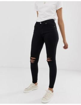 Dr Denim – Lexy – Superskinny Jeans Med Medelhög Midja Och Revor På Knäna Som Sitter Som En Andra Hud by Dr Denim