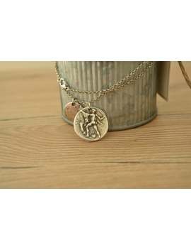 Ancient Greek Crete Coin Hercules And Bull Charm Necklace, Replique Coin Medallion, Tribal Ethnic Mythology Jewelry, Layered Coin Necklace by Etsy