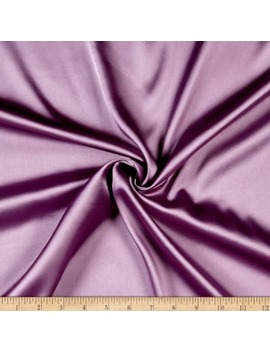 Monaco Stretch Duchess Satin Dark Lilac Fabric by Fabric