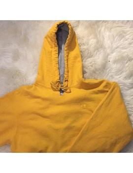 Mustard Yellow Champion Hoodie. by Champion