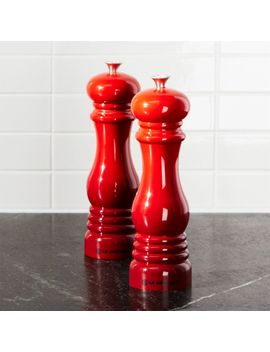 Le Creuset ® Cerise Red Salt And Pepper Mills by Crate&Barrel