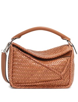 Puzzle Woven Leather Shoulder Bag by Loewe