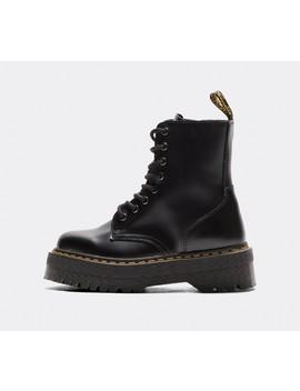 Womens 8 Eye Jadon Zip Boot | Black by Dr. Martens