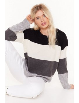 Listen To The Strokes Striped Relaxed Sweater by Nasty Gal