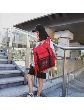 Mulgam   Canvas Contrast Trim Backpack by Mulgam