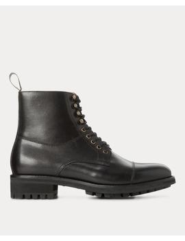 Bryson Cap Toe Leather Boot by Ralph Lauren