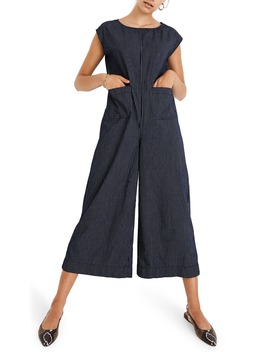 Relaxed Jumpsuit In Mini Windowpane by Madewell
