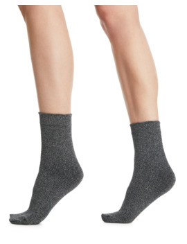 Joan Soft Metallic Knit Ankle Socks by Wolford