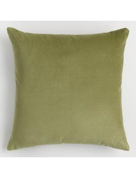 Light Green Velvet Throw Pillow by World Market