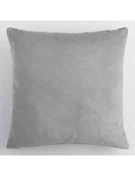 Large Gray Velvet Throw Pillow by World Market