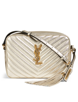 Medium Lou Ysl Monogram Metallic Leather Camera Bag by Holt Renfrew