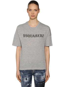 T Shirt Oversize In Jersey Di Cotone by Dsquared2