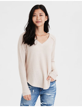 Ae Plush Long Sweater by American Eagle Outfitters