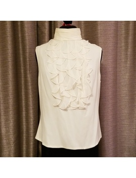Carmen Marc Valvo Collection Ruffle Front Blouse   Nwt by Carmen Marc Valvo