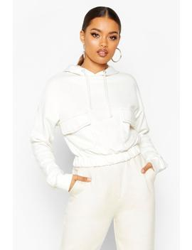 Contrast Stitch Pocket Hoody by Boohoo