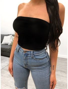 Ciela Tube Top (Black) by Laura's Boutique