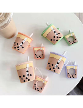 Cute Boba Milk Tea Protective Silicone Earphone Case Cover For Apple Airpods New by Ebay Seller