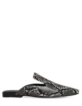 10 Mm Snake Print Leather Mules by Jeffrey Campbell