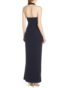 Twisted Halter Gown by Harlyn