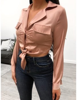 Tamara Silk Top (Pink) by Laura's Boutique