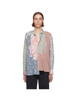 Multicolor Asymmetric Patchwork Shirt by Loewe