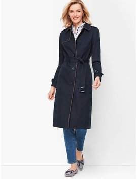 Piped Trench Coat by Talbots