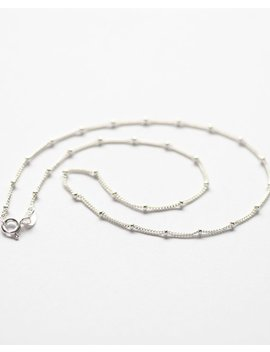 Sterling Silver Necklace, Satellite Chain, Bobble Necklace, Choker Necklace, Silver Chain by Etsy