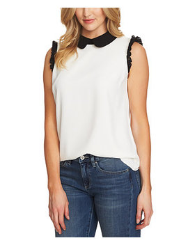 Lace Trim Peter Pan Collar Top by General
