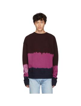 Multicolor Dip Dyed Fleece Sweatshirt by The Elder Statesman