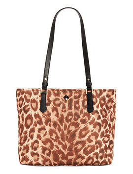 Taylor Leopard Medium Tote by General