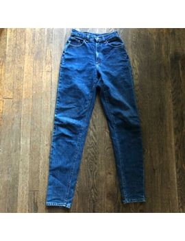 Vtg Riders By Lee Denim Jeans Mom High Waist Tapered 26x34 Long Inseam by Lee