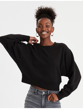 Ae Fleece Cropped Sweatshirt by American Eagle Outfitters