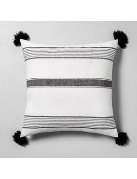 Striped Throw Pillow Sour Cream / Black   Hearth & Hand With Magnolia by Hearth & Hand With Magnolia