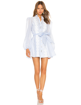 Guardian Mini Dress In Sky Blue Stripe by Keepsake