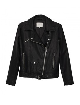 Draden Vegan Leather Jacket   Black by Matt & Nat