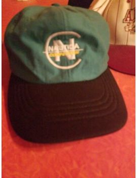 Nautica Competition Spellout Vintage Strapback Hat Rare Green And Black by Nautica
