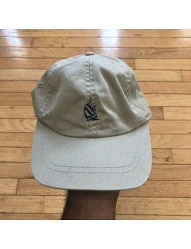 Nautica Small Logo Tan Chino Strap Back Hat Adult Size by Nautica