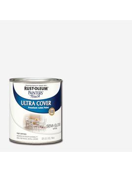 32 Oz. Ultra Cover Semi Gloss White General Purpose Paint by Rust Oleum Painter's Touch
