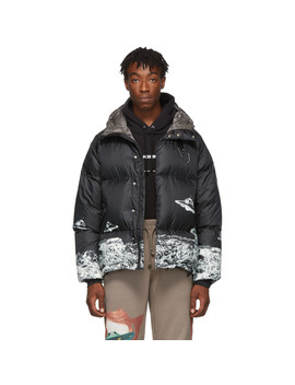 Black Valentino Edition Down Jacket by Undercover