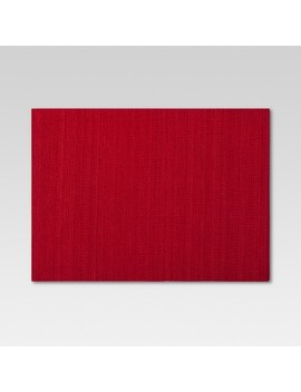 """19""""X14"""" Solid Placemat Red   Threshold by Threshold"""