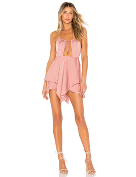 X Revolve Brendan Romper In Rose by Michael Costello